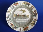 Royal Doulton 'Bayeux Tapestry' Rack Plate D2873 - McIntosh, South African Retailer c1911 (Sold)